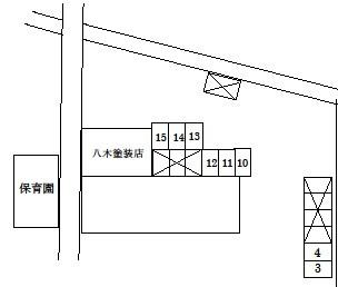 駐車場①の拡大図です。