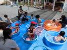 6月22日 光の子広場がプール遊びをしました。